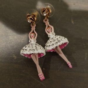 Betsy Johnson-ballerina earrings